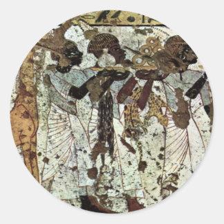 Tributbringende Africans By Maler Der Grabkammer D Classic Round Sticker