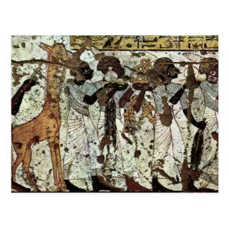 Tributbringende Africans By Maler Der Grabkammer D Postcard