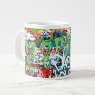 Tribute Graffiti Wall in Prague Giant Coffee Mug