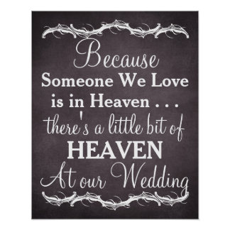 Tribute heaven loved ones chalkboard wedding sign