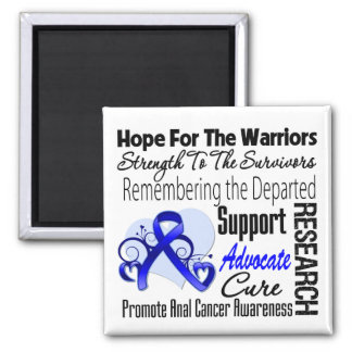 Tribute Hope Collage - Anal Cancer Refrigerator Magnet