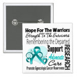 Tribute Hope Collage - Gynecologic Cancer 2 Inch Square Button