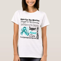 Tribute Hope Collage - Gynecologic Cancer T-Shirt