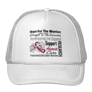 Tribute Hope Collage - Head and Neck Cancer Trucker Hat