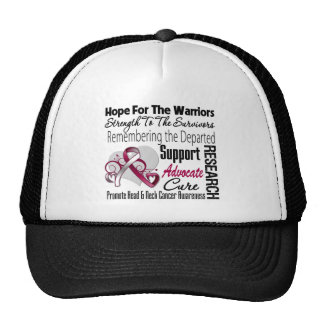 Tribute Hope Collage - Head and Neck Cancer Mesh Hats