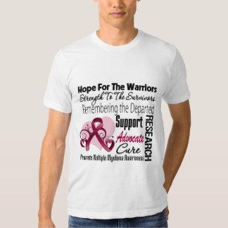 Tribute Hope Collage - Multiple Myeloma Tee Shirt
