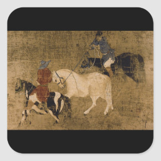 Tribute Horses', unknown artist_The Orient Square Sticker
