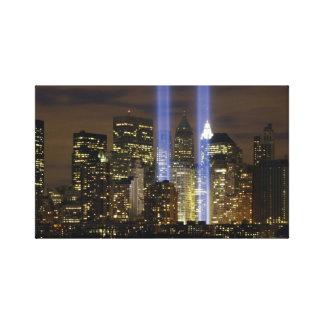 """Tribute in Light"" 9-11 Memorial Canvas Print"