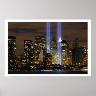 """""""Tribute in Light"""" 9-11 Memorial Poster"""