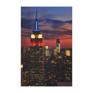 Tribute In Light Sept 11, World Trade Cntr ESB #1 Stretched Canvas Print