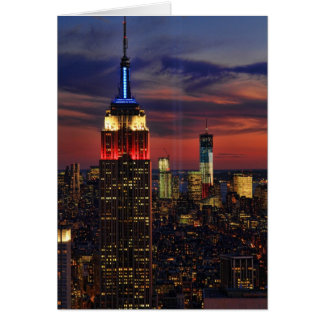 Tribute In Light Sept 11, World Trade Cntr ESB #1 Greeting Card