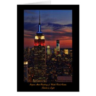 Tribute In Light Sept 11, World Trade Cntr ESB #1 Cards