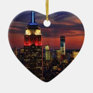 Tribute In Light Sept 11, World Trade Cntr ESB #1 Ceramic Ornament