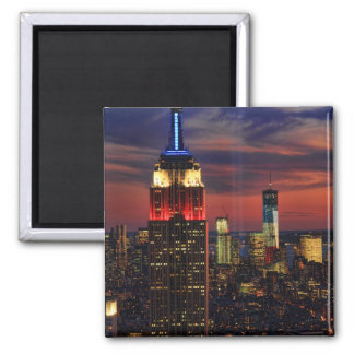 Tribute In Light Sept 11, World Trade Cntr ESB #1 2 Inch Square Magnet