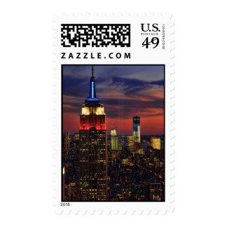 Tribute In Light Sept 11, World Trade Cntr ESB #1 Postage Stamp