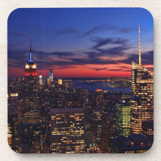 Tribute In Light Sept 11, World Trade Cntr ESB #2 Beverage Coasters