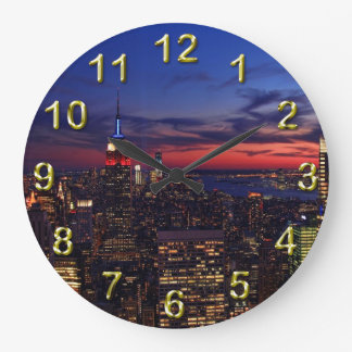 Tribute In Light Sept 11, World Trade Cntr ESB #2 Large Clock