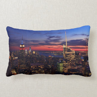 Tribute In Light Sept 11, World Trade Cntr ESB #2 Lumbar Pillow
