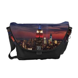 Tribute In Light Sept 11, World Trade Cntr ESB #2 Messenger Bags