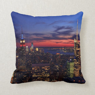 Tribute In Light Sept 11, World Trade Cntr ESB #2 Throw Pillow
