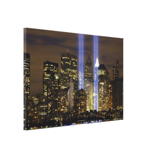 Tribute in Lights, World Trade Center, New York… Canvas Print