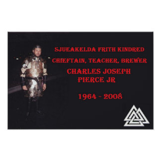 Tribute poster of Charles Pierce