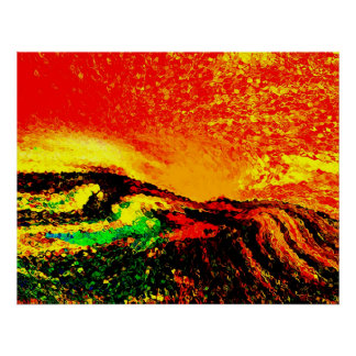 Tribute-seeing red print