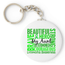 Tribute Square Aunt Lymphoma Keychain