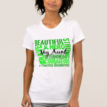 Tribute Square Aunt Lymphoma T-Shirt