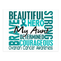 Tribute Square Aunt Ovarian Cancer Postcard