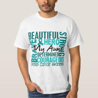 Tribute Square Aunt Ovarian Cancer Tees