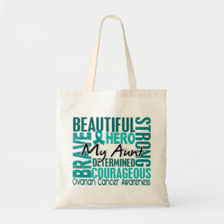 Tribute Square Aunt Ovarian Cancer Tote Bag