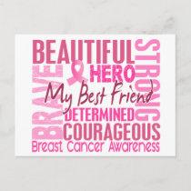 Tribute Square Best Friend Breast Cancer Postcard