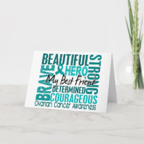 Tribute Square Best Friend Ovarian Cancer Card