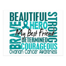 Tribute Square Best Friend Ovarian Cancer Postcard