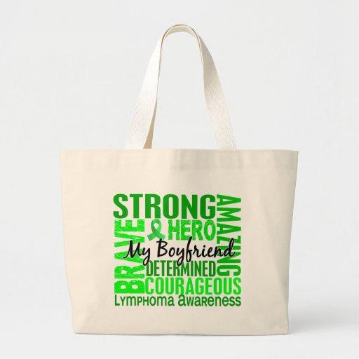 Tribute Square Boyfriend Lymphoma Jumbo Tote Bag