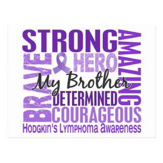 Tribute Square Brother Hodgkins Lymphoma Postcard