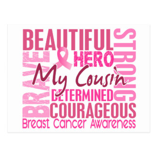 Tribute Square Cousin Breast Cancer Postcard