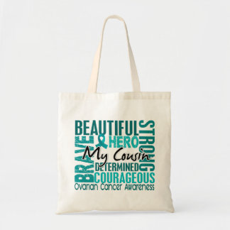 Tribute Square Cousin Ovarian Cancer Budget Tote Bag
