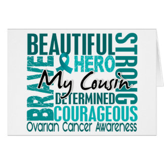 Tribute Square Cousin Ovarian Cancer Greeting Card