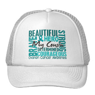 Tribute Square Cousin Ovarian Cancer Trucker Hat