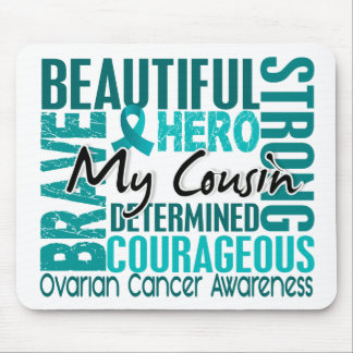 Tribute Square Cousin Ovarian Cancer Mouse Pad