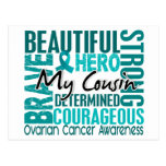 Tribute Square Cousin Ovarian Cancer Postcard