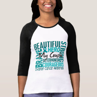 Tribute Square Cousin Ovarian Cancer T Shirt