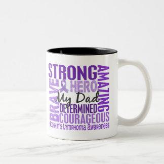 Tribute Square Dad Hodgkins Lymphoma Two-Tone Coffee Mug