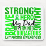 Tribute Square Dad Lymphoma Mouse Pad
