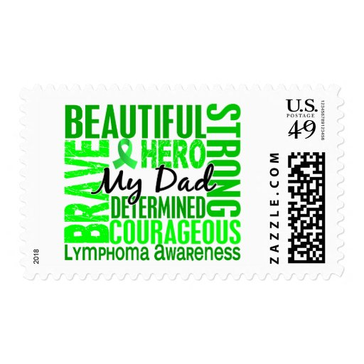 Tribute Square Dad Lymphoma Postage
