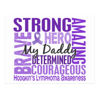 Tribute Square Daddy Hodgkins Lymphoma Postcard
