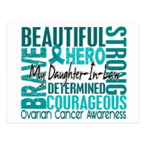 Tribute Square Daughter-In-Law Ovarian Cancer Postcard