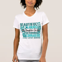 Tribute Square Daughter-In-Law Ovarian Cancer T-Shirt